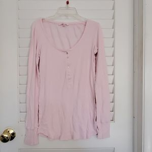 Victoria Secret long sleeved thermal shirt pink sm